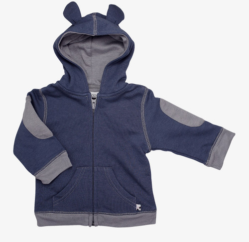 Babysoy - Bamboo/Cotton Blend Fleece Hoodie, Indigo