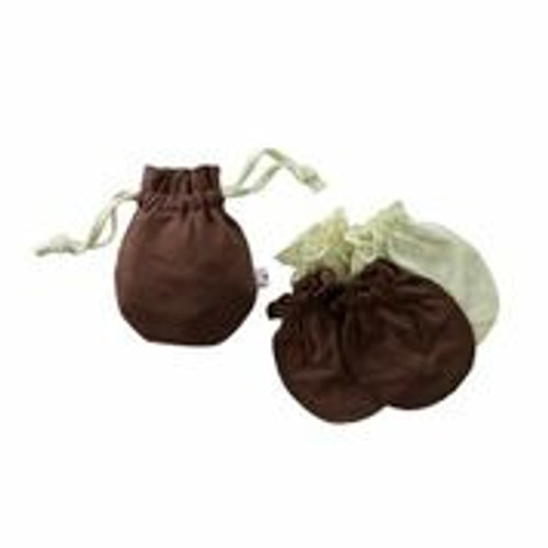Babysoy - Mitten Sets w Drawstring Bag, Chocolate