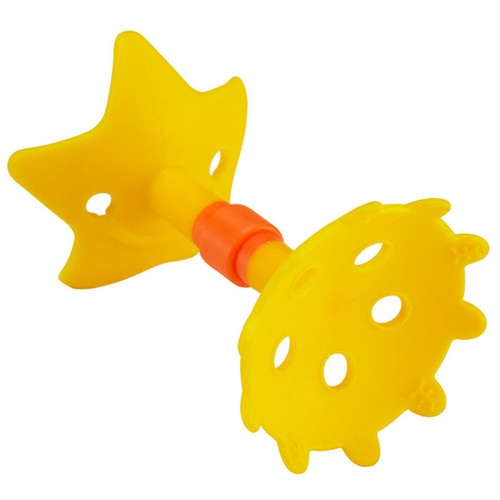 Innobaby - EZ Grip Massaging Teether, Yellow Star