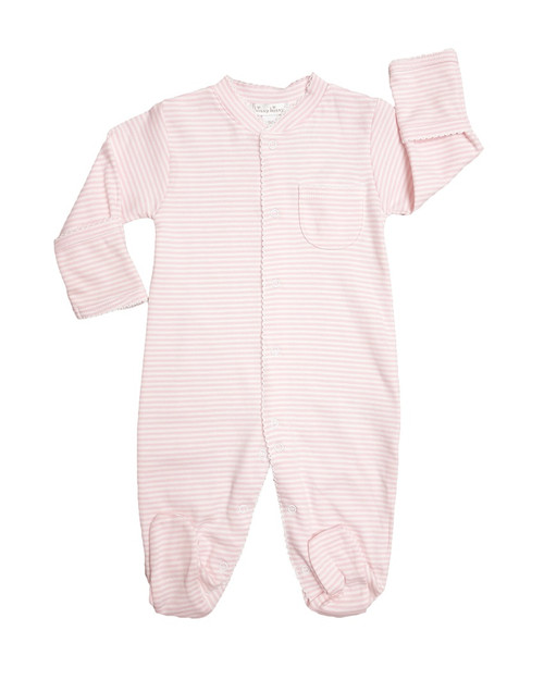Kissy Kissy 100% Peruvian Pima Cotton Pink Stripes Footie