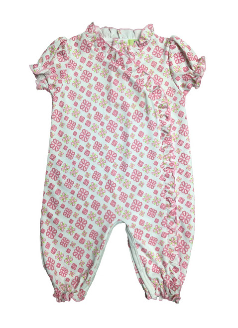 Kissy Kissy 100% Peruvian Pima Cotton QT Bright Blooms Print Playsuit