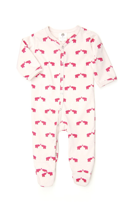 Kate Quinn Organic Classic Footie, Elephant