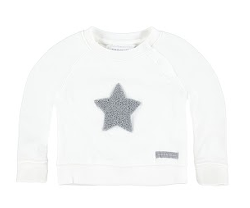 Bellybutton Sweatshirt, Snow Star