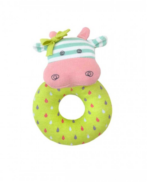 Apple Park - Organic Cotton Belle Cow Teething Rattle