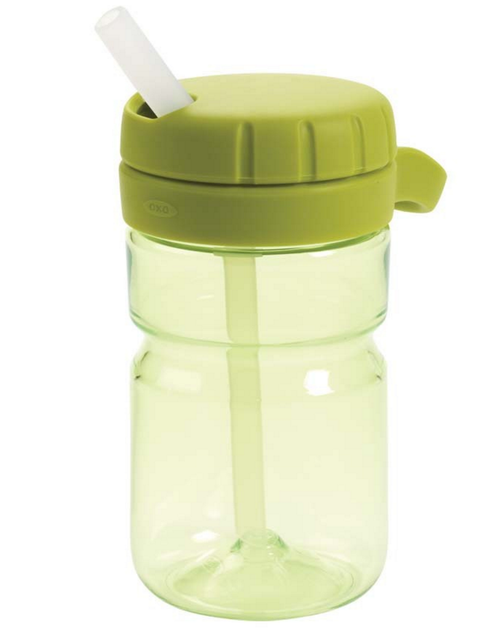 OXO TOT Twist Top Water Bottle, Green