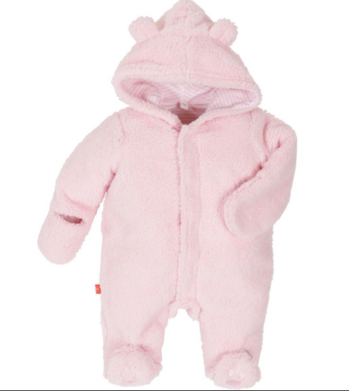 Magnificent Baby, Smart Little Bears Pink Lcing Hooded Fieece Pram, Pink