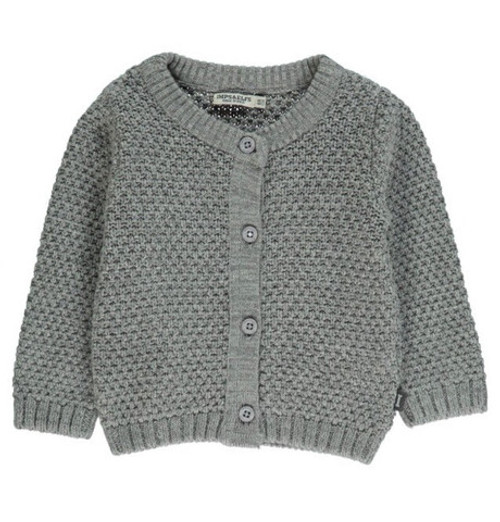 Imps & Elfs Long Sleeve Cardigan, Grey Melange