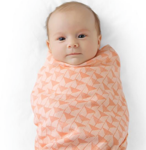 Finn + Emma Muslin Swaddle Blanket Set (Triangle/Red Rose)