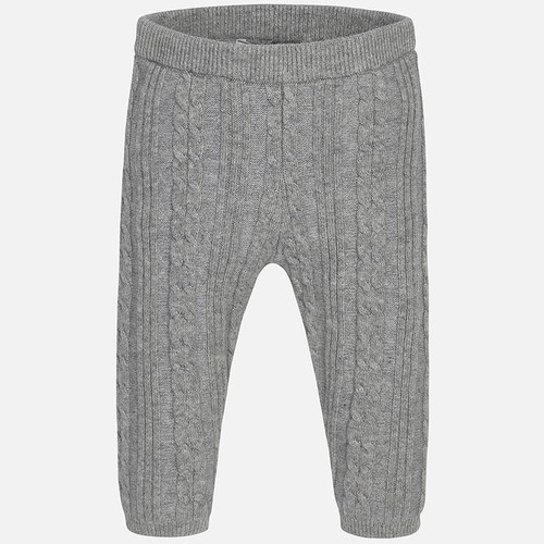 Mayoral Girls Knitted Leggings, Chromium