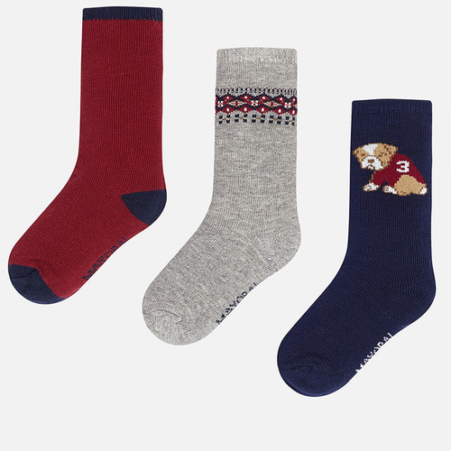 Mayoral Socks Set of 3, Blue