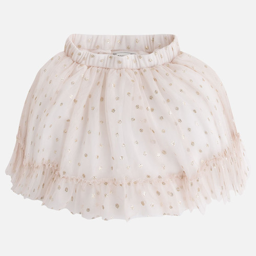 Mayoral Girls Tulle Skirt, Beige