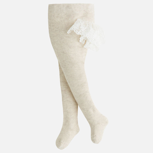 Mayoral Baby Girls Frilly Dress Tights, Sand