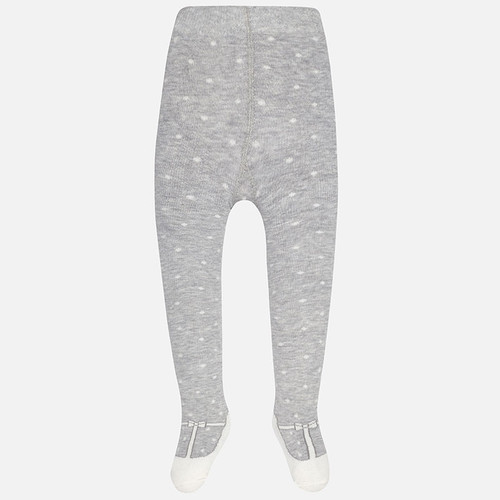 Mayoral Baby Girls Polka Dots Tights, Grey