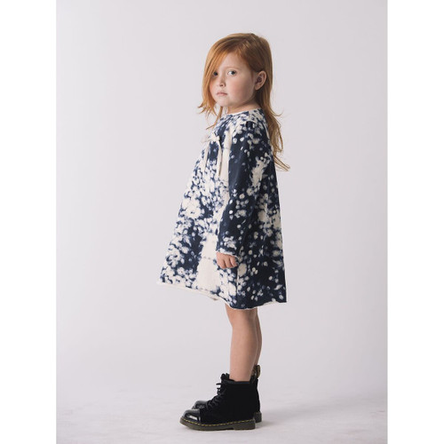 Go Gently Fleece Bow Dress, Firecracker