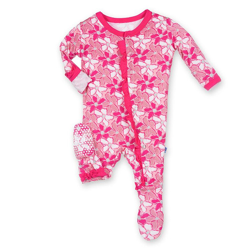KicKee Pants Muffin Ruffle Footie, Desert Flower