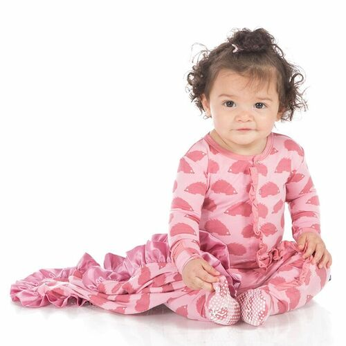 KicKee Pants Muffin Ruffle Footie, Lotus Porcupine