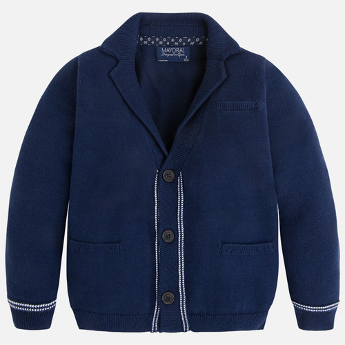 Mayoral Boy knit jacket with 3 buttons, Blue