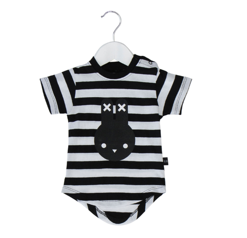 Huxbaby Organic Cotton Hux Bunny Drop Back T-Shirt, Stripes