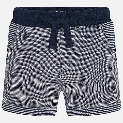 Mayoral Baby Boy Fleece Shorts with Drawstrings - Blue