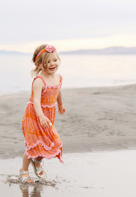 Kickee Pants Ruffle Tank Dress with Bloomer, Sunset Fireflies