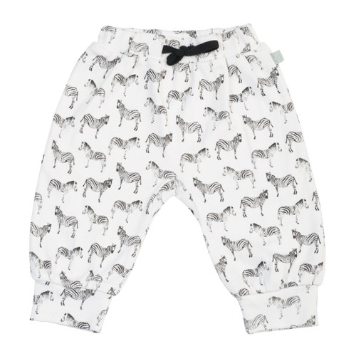 Finn + Emma Organic Cotton Pants, Zebra