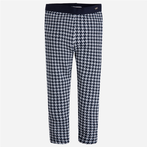 Mayoral Girl leggings with houndstooth pattern