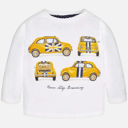 Mayoral Boy long sleeved t-shirt, Cream