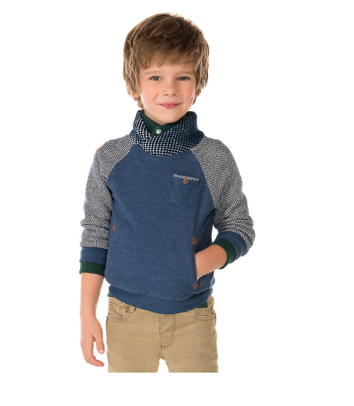 Mayoral Baby boys Striped Sweater, Denim