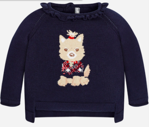 Mayoral Girls Sweater, Navy