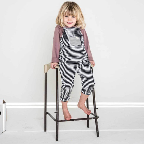 Turtledove London Organic Humbug Stripe Dungarees