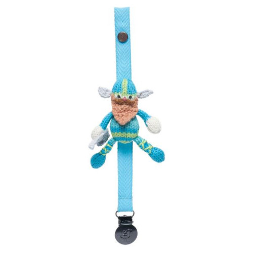 Finn + Emma Pacifier Holder - Gunnar the Viking (Pacifier not included)
