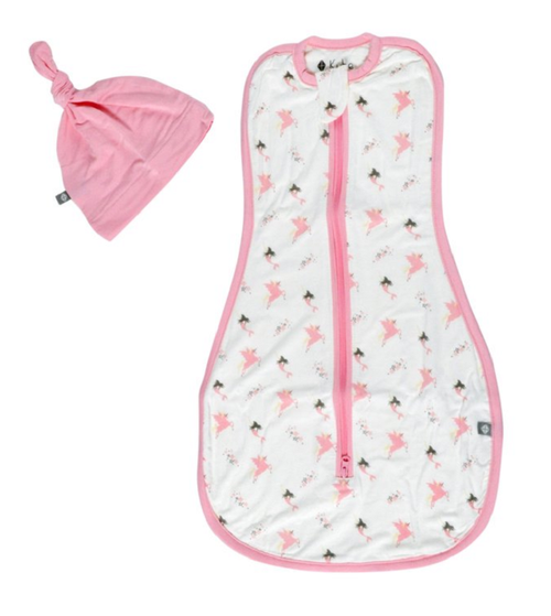 Kyte Baby Printed Swaddle Bag and Hat - Mythical 0.5