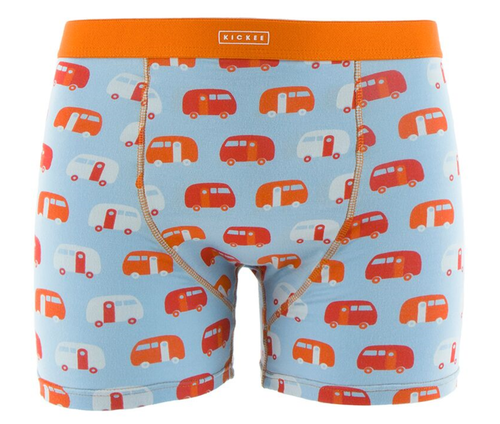 Kickee Pants Print Men's Boxer Brief - Pond Camper