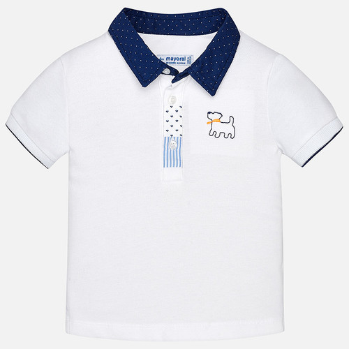 Mayoral Baby Boys Dressy Polo Shirt - White