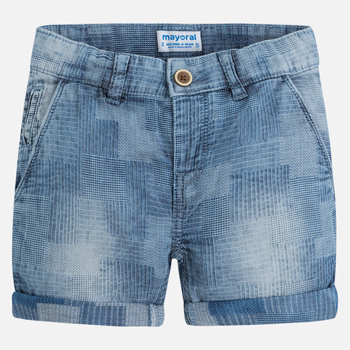 Mayoral Boys Jacquard Shorts - Denim