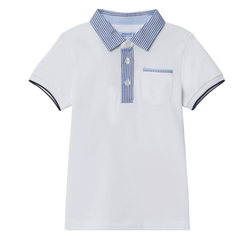 Mayoral Boys Dressy Polo Shirt - White