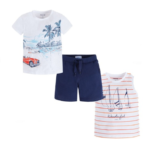Mayoral Boys 3 Piece Shorts Set - Baltic