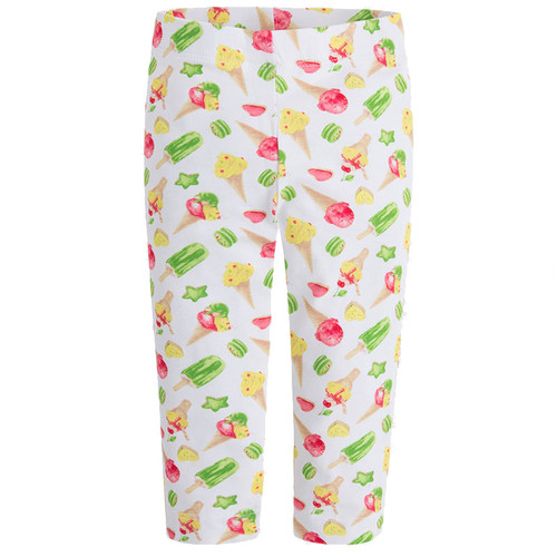 Mayoral Girls Basic Cropped Leggings - Ice Cream