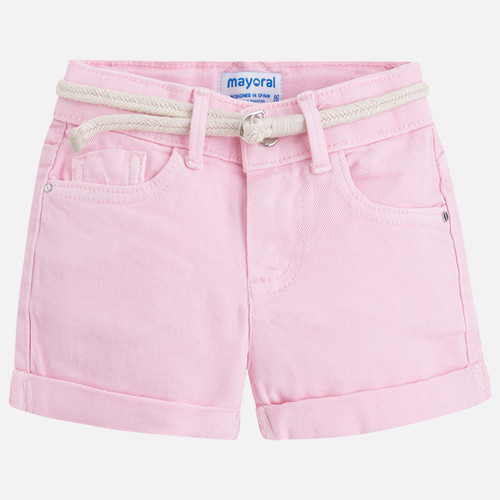 Mayoral Girl Twill Shorts - Rose