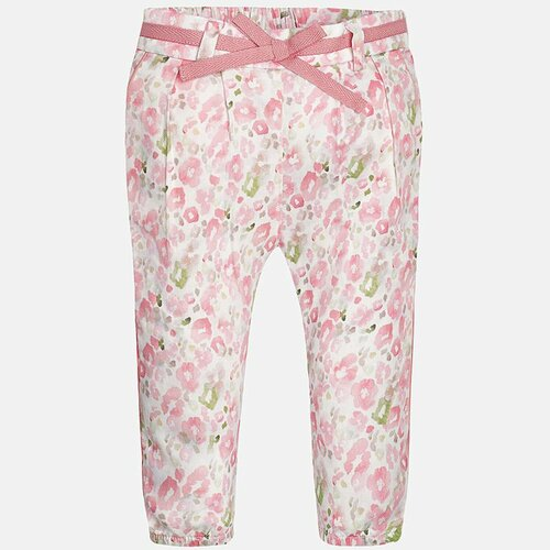Mayoral Baby Girls Animal Print Trousers - Blush