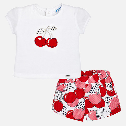 Mayoral Baby Girls T-Shirt and Shorts Set - Red
