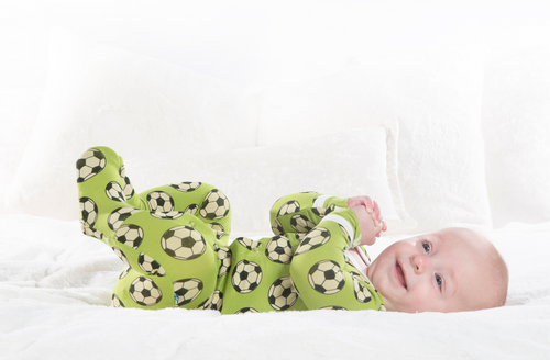 Kickee Pants Print Footie with Snaps - Meadow Soccer