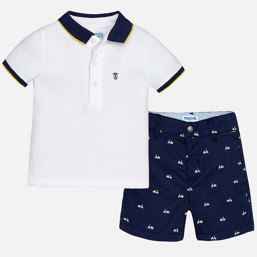 Mayoral Baby Boys Polo and Shorts Set - Blue