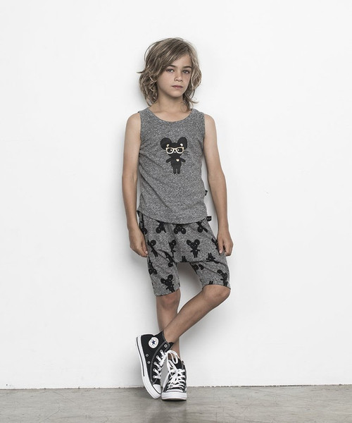 Huxbaby Mouse Charcoal Shorts