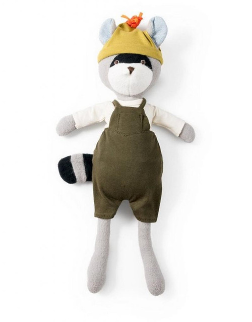 Hazel Village - Max Raccoon in Overalls Outfit
