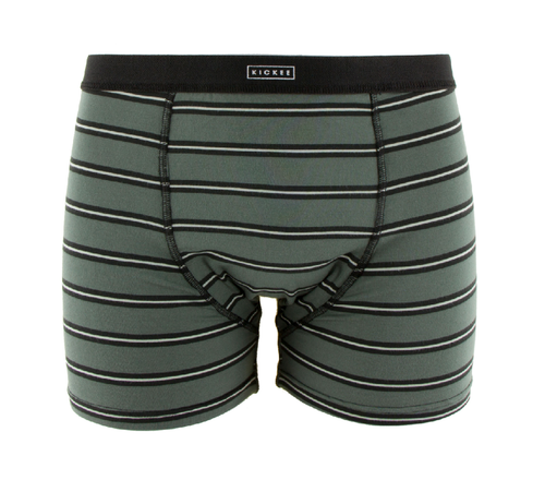 Kickee Pants Print Men's Boxer Brief - Succulent Kenya Stripe