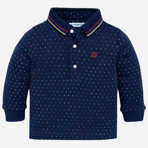 Mayoral Baby Boys Micro-Patterned Polo - Eclipse