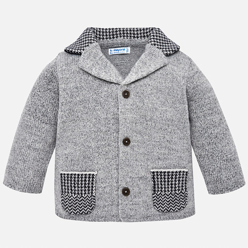 Mayoral Baby Boy Knit Jacket - Mist