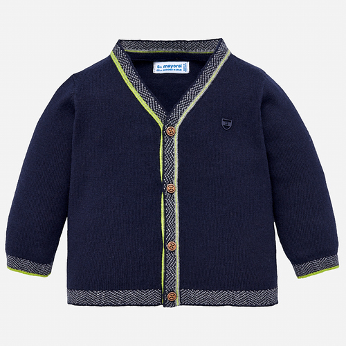 Mayoral Baby Boy Knit Jacket - Navy