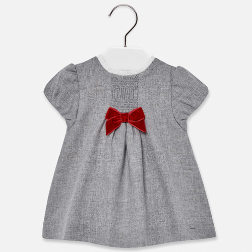 Mayoral Baby Girls Flannel Dress - Silver